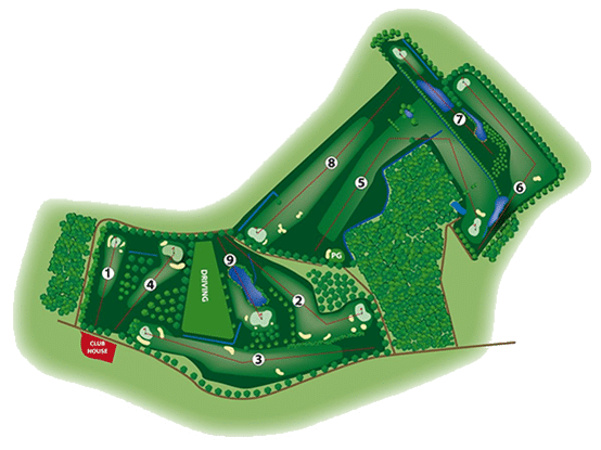 Course Layout Golf Nuclea
