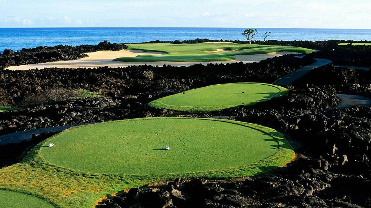 Hualalai course, golf in Hawaii